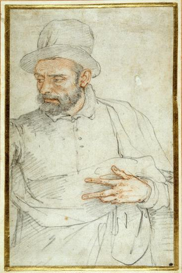 A Bearded Man, Half Length, Standing Dressed for the Street-Federico Zuccaro-Giclee Print