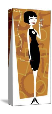 A Beatnik Woman with a Cigarette and a Martini