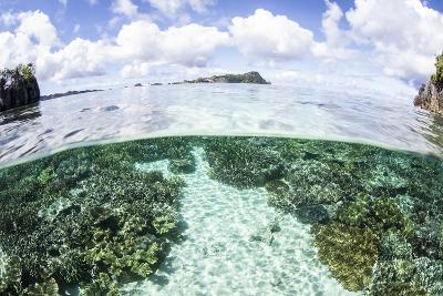 A Beautiful Coral Reef Grows Near a Set of Limestone Islands-Stocktrek Images-Photographic Print