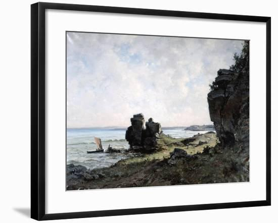 A Beautiful Morning at the Coast of Brittany, 1882-Emmanuel Lansyer-Framed Giclee Print