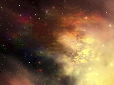 A Beautiful Nebula Out in the Cosmos with Many Stars And Clouds-Stocktrek Images-Photographic Print