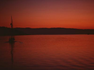 A Beautiful Red Twilight Settles over the Olympic Peninsula-Sam Abell-Photographic Print