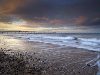 A Beautiful Spring Sunset at Saltburn, North Yorkshire, England, United Kingdom, Europe-Jon Gibbs-Photographic Print