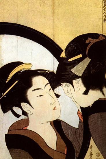 A Beauty before the Mirror, C1793-Kitagawa Utamaro-Giclee Print