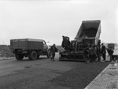 A Bedford A3S Tipper on the Site of Manvers Coal Prep Plant, South Yorkshire, 1955-Michael Walters-Photographic Print