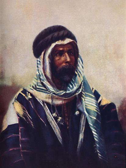 A Bedouin sheikh wearing burnouse, 1902-Unknown-Giclee Print