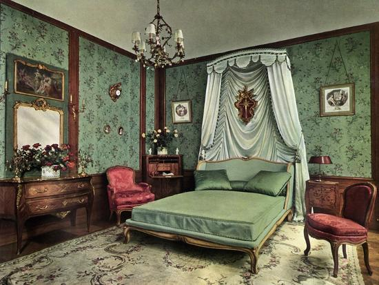 A Bedroom from the Reign of Louis XV Room, Hotel Des Saints Pères, Paris, 1938--Giclee Print