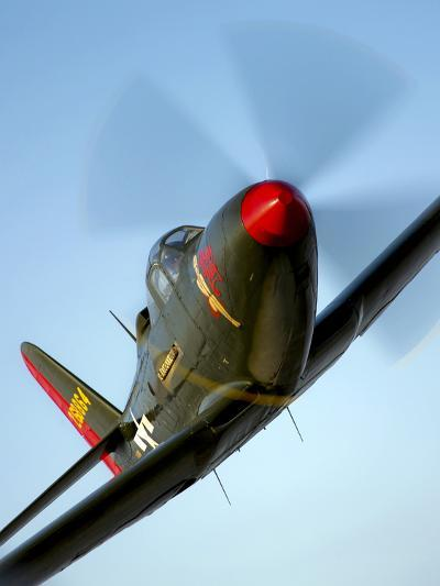 A Bell P-63 Kingcobra in Flight-Stocktrek Images-Photographic Print