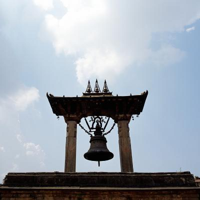 A Bell Tower and Bell--Photographic Print