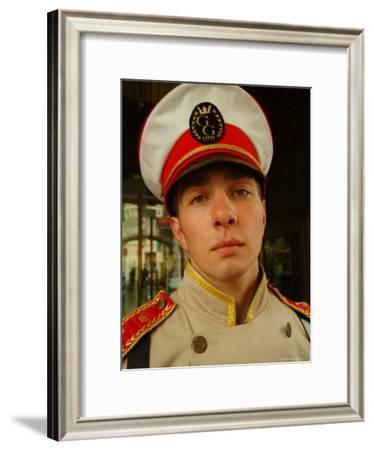 A Bellman in Uniform at the Grand Hotel Europa-Richard Nowitz-Framed Photographic Print