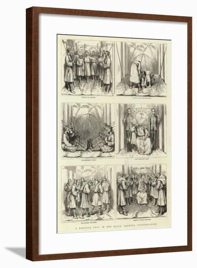 A Biblical Play in the Black Country, Staffordshire--Framed Giclee Print