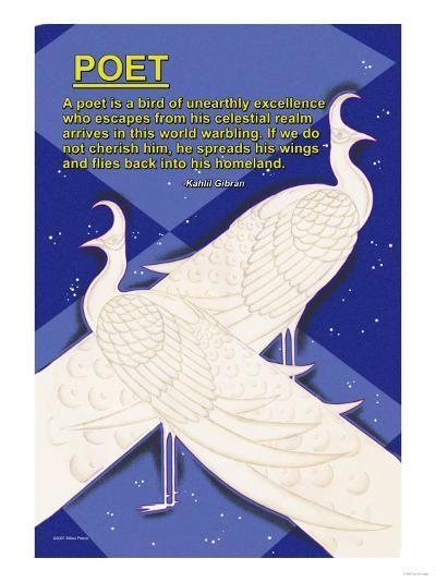 A Bird is a Poet--Art Print