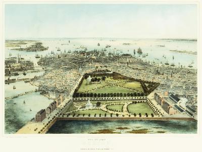 A Bird's Eye View of Boston, 1850-John Bachman-Giclee Print
