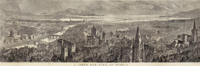 A Bird's Eye View of Dublin--Giclee Print