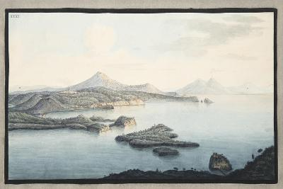 A Bird's Eye View of the Territory Raised by Volcanic Explosions-Pietro Fabris-Giclee Print