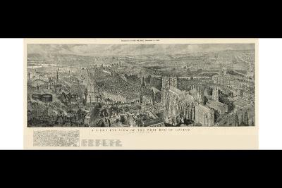 A Bird's Eye View of the West End of London-Henry William Brewer-Giclee Print