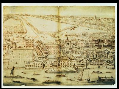 A Bird's Eye View of Whitehall Palace, C.1695-Leonard Knyff-Giclee Print