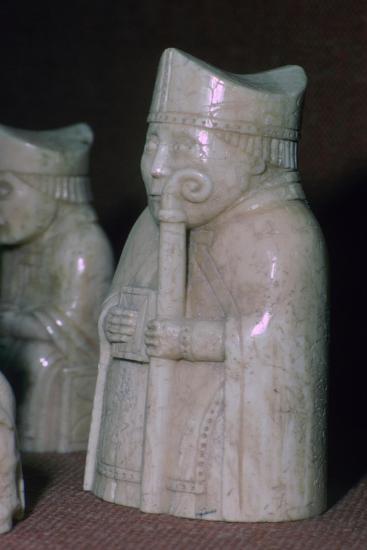 A Bishop - The Lewis Chessmen, (Norwegian?), c1150-c1200. Artist: Unknown-Unknown-Giclee Print