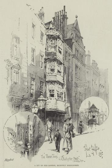 A Bit of Old London, Recently Demolished-Herbert Railton-Giclee Print