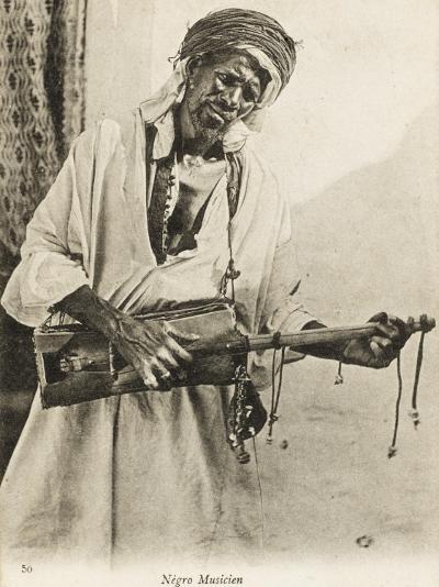 A Black Algerian Musician--Photographic Print
