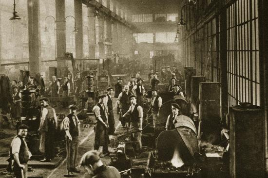 A blacksmith's shop at Beckton Gas Works, London, 20th century-Unknown-Photographic Print