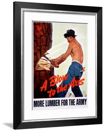 A Blow to the Axis--Framed Giclee Print