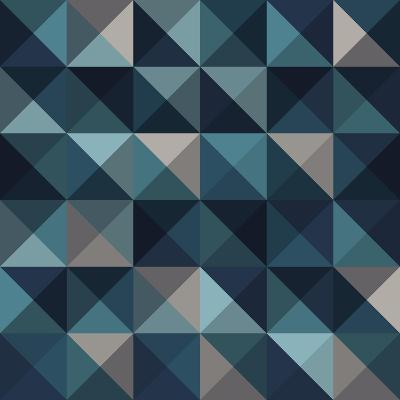 A Blue Abstract Vector Pattern Background-Mike Taylor-Art Print
