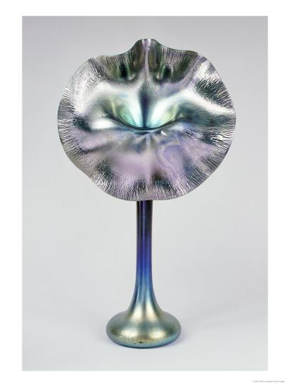 A Blue And Favrile Glass Jack In The Pulpit Vase Giclee Print By