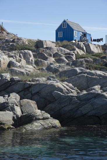 A blue house in West Greenland-Natalie Tepper-Photo