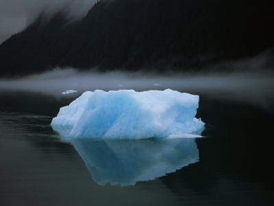 A Blue Iceberg and its Reflection in Calm Water-Ralph Lee Hopkins-Photographic Print