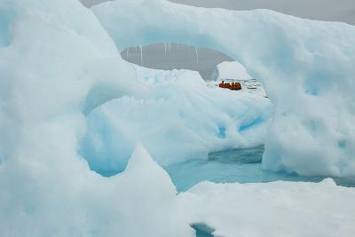 A Blue Iceberg in Grandidier Channel, Antarctica-Ralph Lee Hopkins-Photographic Print