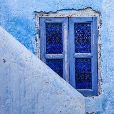 A Blue Painted Window in Le Jardin Des Biehn, a Riad or Small Hotel in the Medina of Fez-Richard Nowitz-Photographic Print