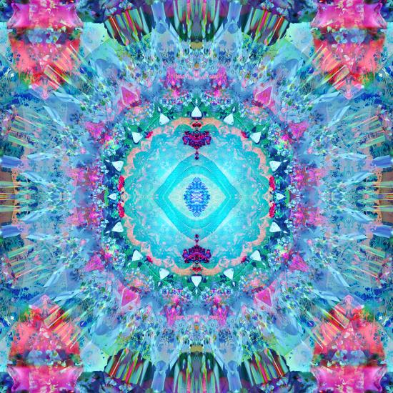 A Blue Water Mandala from Flower Photographs-Alaya Gadeh-Photographic Print