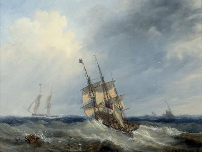 A Blustery Day, 1844-John Wilson Carmichael-Giclee Print