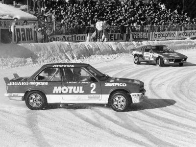 A BMW 325IX During the Chamonix Ice Race, France, 1989--Photographic Print