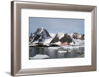 A boat in Antarctica-Natalie Tepper-Framed Photo