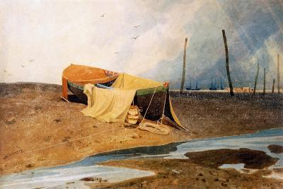 A Boat on the Beach-John Sell Cotman-Giclee Print