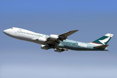 A Boeing 747-800 Cathay Pacific Cargo Hong Kong Trader--Photographic Print