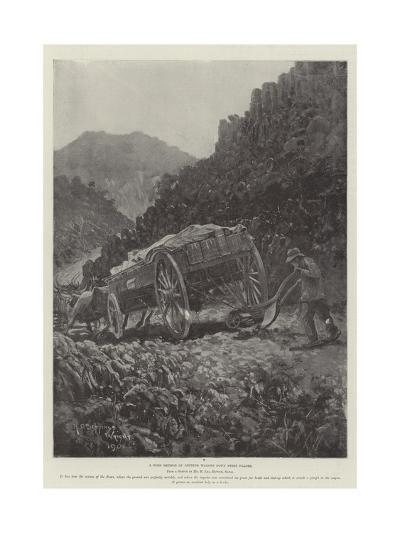 A Boer Method of Getting Wagons Down Steep Places-Henry Charles Seppings Wright-Giclee Print