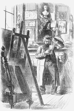 A Bohemian Artist in His Studio, 1859--Giclee Print