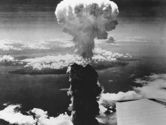 A-Bomb Damage to Nagasaki--Photographic Print