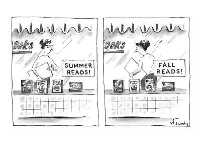 "A bookstore sign in the window ""Summer Reads!"" promoting four books below.? - New Yorker Cartoon-Mike Twohy-Premium Giclee Print"