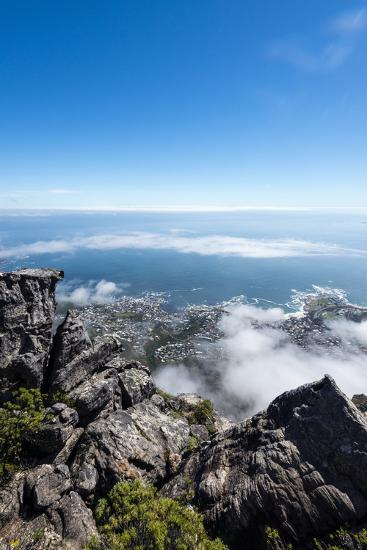 A Boulder Field on the Summit of Table Mountain Overlooking Table Bay-Jason Edwards-Photographic Print