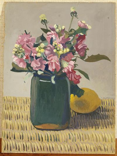 A Bouquet of Flowers and a Lemon, 1924-F?lix Vallotton-Giclee Print