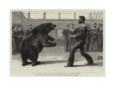 A Boxing Match on Board H M S Cambridge--Giclee Print