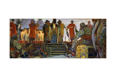 A Boyar's Execution During the Reign of Tsar Ivan the Terrible, 1906-Vasili Vladimirov-Giclee Print