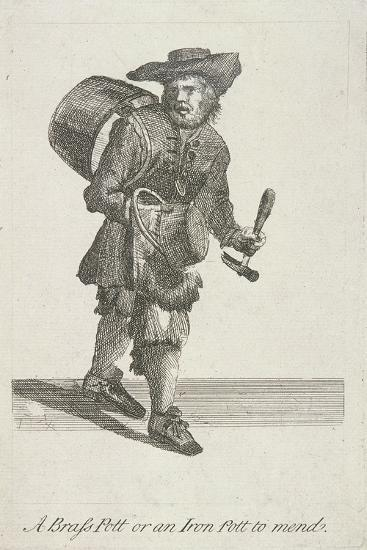 A Brass Pott or an Iron Pott to Mend, Cries of London, C1688-Marcellus Laroon-Giclee Print
