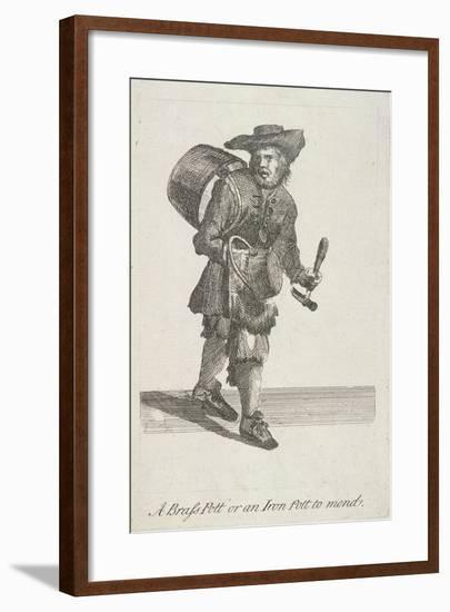 A Brass Pott or an Iron Pott to Mend, Cries of London, C1688-Marcellus Laroon-Framed Giclee Print