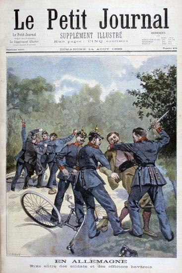 A Brawl Between German Soldiers and Bavarian Officers, Germany, 1898-F Meaulle-Giclee Print