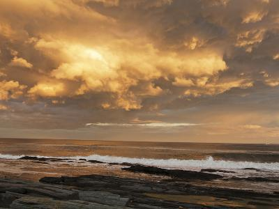 A Break after Stormy Weather on Cape Elizabeth's Rocky Shore-Mauricio Handler-Photographic Print